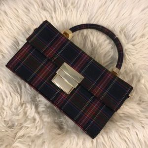 Zara Plaid Box Clutch